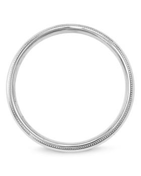 Bloomingdale's - Men's 4mm Milgrain Comfort Fit Band in 14K White Gold - 100% Exclusive