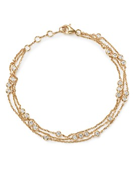 Bloomingdale's - Diamond Station Bracelet in 18K Yellow Gold, 0.55 ct. t.w. - 100% Exclusive