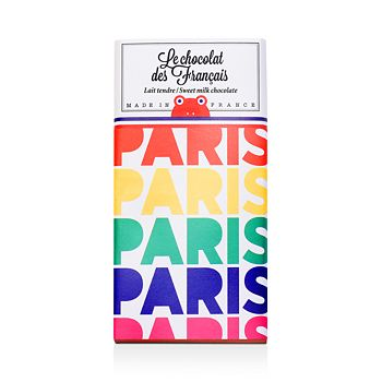 Le Chocolat des Francais - Paris Arc-en-ciel Tender Milk Chocolate Bar, 3.17 oz.