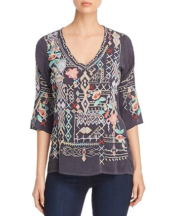Johnny Was Collection - Seeroon Embroidered Top