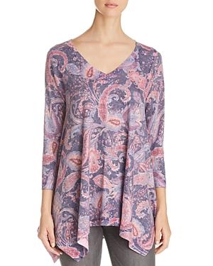Nally & Millie Paisley Print Handkerchief Tunic
