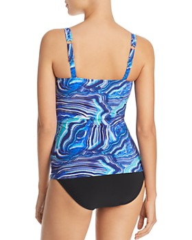 Profile by Gottex - Quartzite Tankini Top & Tutti Frutti Clean Finish High Waist Tankini Bottom