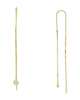 AQUA - Sterling Silver Dangling Threader Earrings - 100% Exclusive