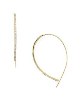 AQUA - Sterling Silver Threader Hoop Earrings - 100% Exclusive