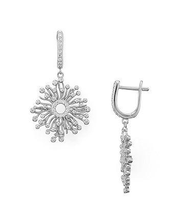 AQUA - Sterling Silver Cluster Drop Earrings - 100% Exclusive