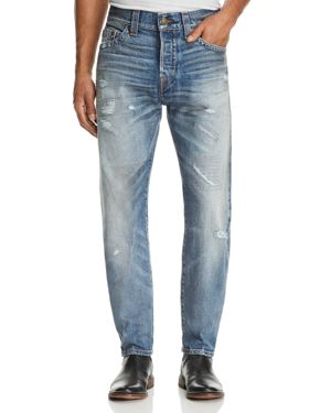 True Religion Logan Straight Fit Jeans in Mended Street Brawl