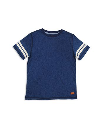 7 For All Mankind - Boys' Tee with Striped Sleeves - Little Kid