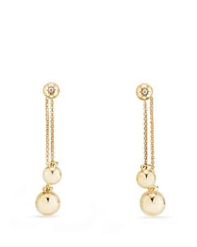 David Yurman - Solari Chain Drop Earrings with Diamonds in 18K Gold