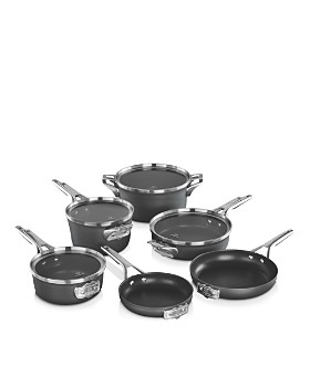 Calphalon - Premier Space Saving Hard Anodized Nonstick 10-Piece Cookware Set