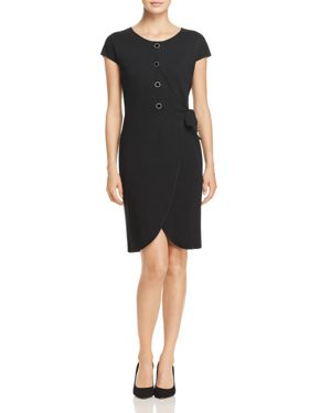 Emporio Armani Crossover Tie-Waist Dress