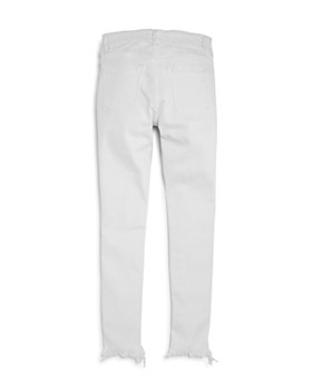 DL1961 - Girls' Distressed White Step-Hem Skinny Jeans - Big Kid