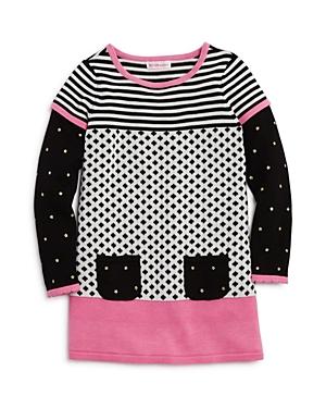 Design History Girls Mixed Print Sweater Dress  Little Kid