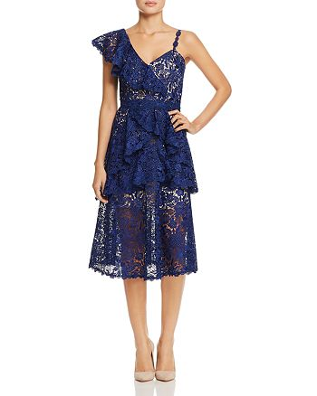 Alice and Olivia - Florrie Ruffle Midi Dress