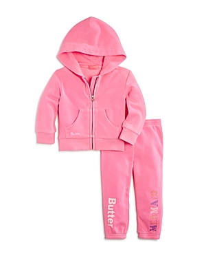 Butter Girls' Glitter Mermaid Hoodie & Joggers Set - Little Kid