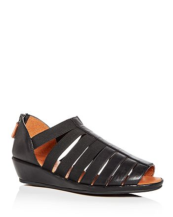 Gentle Souls by Kenneth Cole - Women's Lana Leather Demi Wedge Sandals