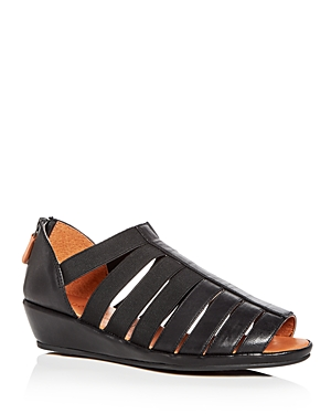 Gentle Souls Women's Lana Leather Demi Wedge Sandals