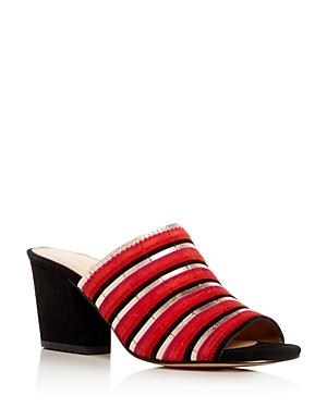Botkier Women's Posie Suede Stripe High Heel Slide Sandals