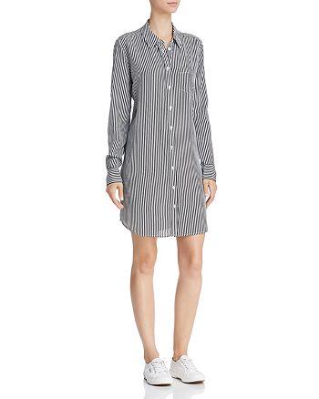 6b09d2361de8f6 Equipment - Brett Printed Silk Shirt Dress