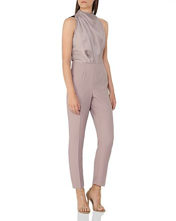 4885fc00669c REISS - Kita Lace-Back Cropped Jumpsuit
