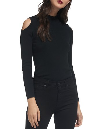 $Whistles Cold-Shoulder Button-Detail Sweater - Bloomingdale's