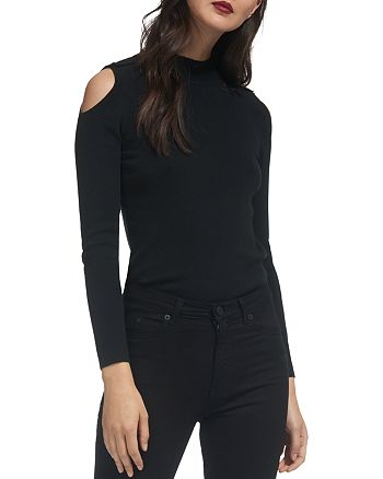 Whistles - Cold-Shoulder Button-Detail Sweater
