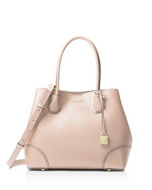 Mercer Gallery Medium Leather Snap-Top Tote Bag in Neutrals