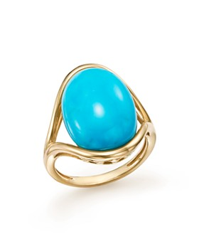 Bloomingdale's - Turquoise Statement Ring in 14K Yellow Gold - 100% Exclusive