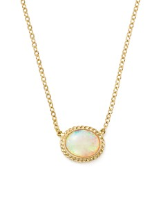 """Bloomingdale's - Opal Oval Pendant Necklace in 14K Yellow Gold, 18"""" - 100% Exclusive"""