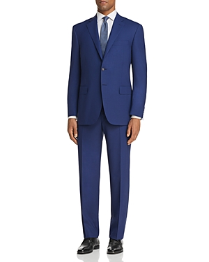 Canali Grid Check Regular Fit Suit