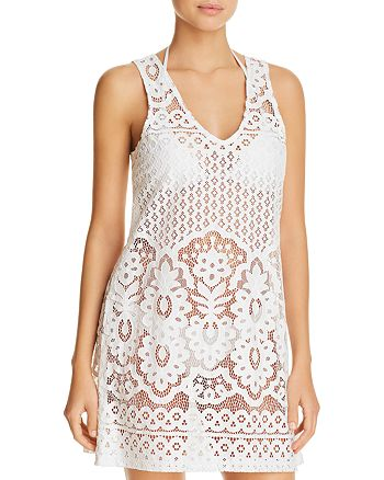 J. Valdi - Pina Colada Lace Dress Swim Cover-Up