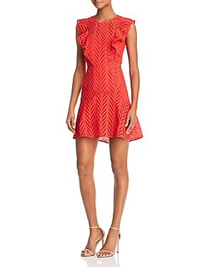 Bardot  EYELET CUTOUT DRESS