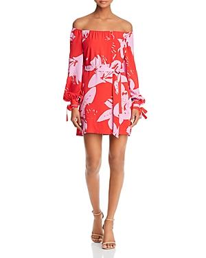 Bardot  FLORAL PRINT OFF-THE-SHOULDER DRESS