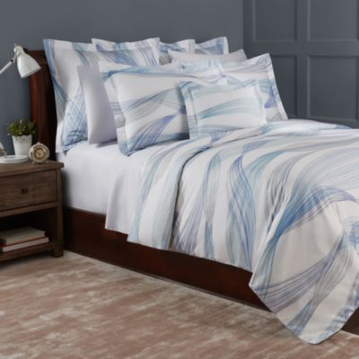 Aria Bleu Duvet Cover, Queen - 100% Exclusive