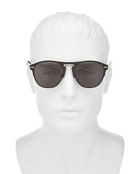 Dior Homme - Men's Diorchrome Brow Bar Round Sunglasses, 51mm