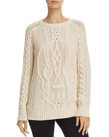 AQUA - Skull Cable-Knit Sweater - 100% Exclusive