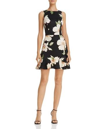 $AQUA Sleeveless Ruffled Floral Print Dress - 100% Exclusive - Bloomingdale's