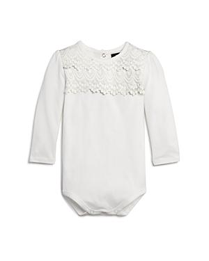 Bardot Junior Girls' Long-Sleeve Bodysuit with Lace Bodice - Baby