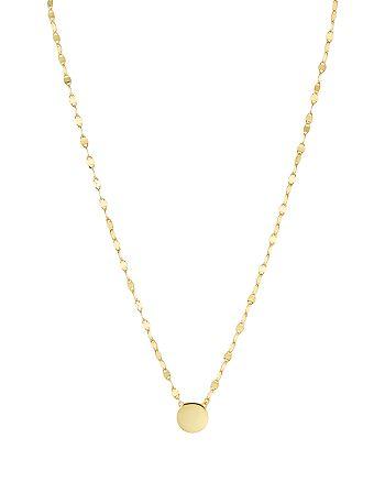 """Argento Vivo - Flat Disc Plate Pendant Necklace, 16"""""""