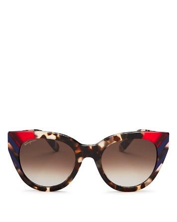 $Salvatore Ferragamo Cat Eye Sunglasses, 50mm - Bloomingdale's
