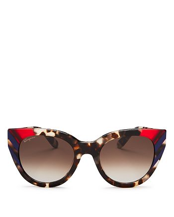 Salvatore Ferragamo - Women's Cat Eye Sunglasses, 50mm
