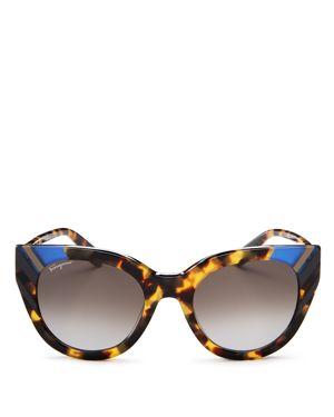 Salvatore Ferragamo Cat Eye Sunglasses, 50mm