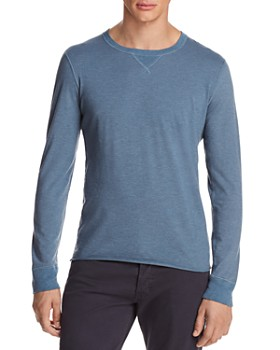 Billy Reid - Dylan Microstripe Long Sleeve Tee