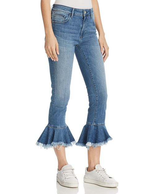 Mavi - Tessa Cheeky High Rise Skinny Jeans in Mid Brushed Cheeky