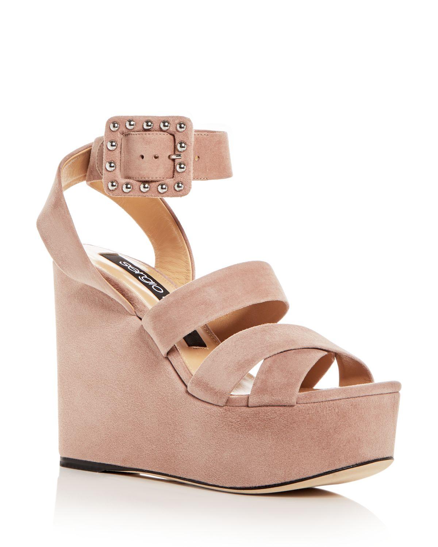 Sergio Rossi Platform Sandals ankle strap leather