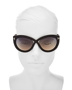 Tom Ford - Women's Diane Cat Eye Sunglasses, 56mm