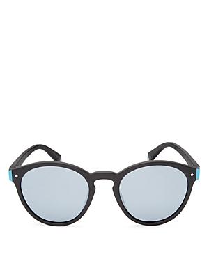 Polaroid Polarized Mirrored Round Sunglasses, 49mm