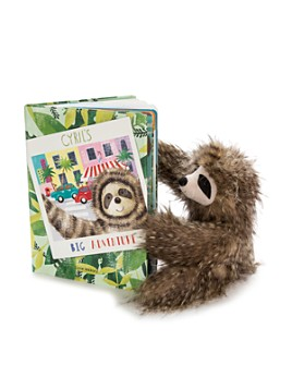 Jellycat - Cyril the Sloth & Cyril's Big Adventure Book - Ages 12 Months+