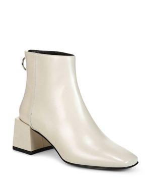 Via Spiga Women's Lara Leather Block Heel Booties