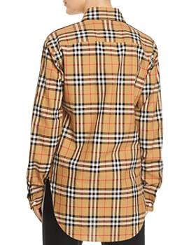 Burberry - Saoirse Side-Stripe Check Print Shirt