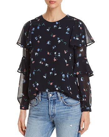 Vero Moda - Floral Ruffle-Sleeve Top